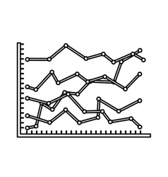 Statistical growth isolated icon design vector