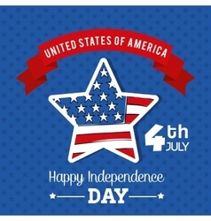 Independence day Usa icon Celebration concept vector image