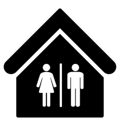 Toilet building flat icon vector
