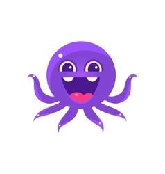 Ecstatic Funny Octopus Emoji vector image