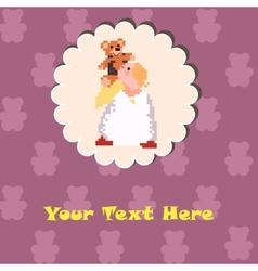 Angel with a Teddy Bear vector image