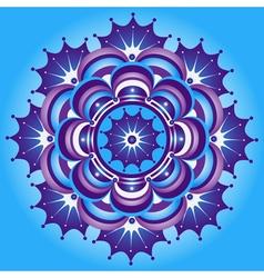 Blue and violet gradient vintage round pattern vector image