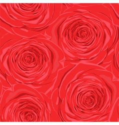 seamless background with red roses vector image