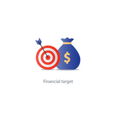 business goal credit money for needs budget fund vector image