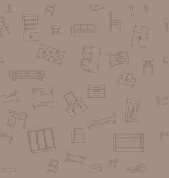 Brown seamless pattern furniture vector