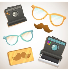 Hipster trendy items vintage collection vector