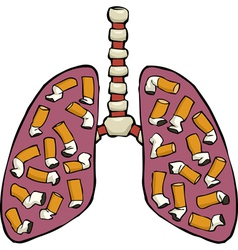 Human lungs ashtray vector