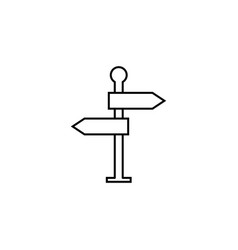 signpost line icon navigation road sign vector image