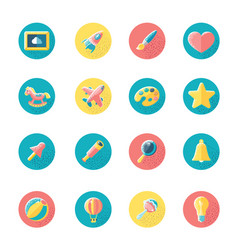Kids toys and objects vector
