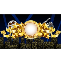 Golden movie theme vector