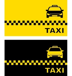 Black and yellow taxi card vector