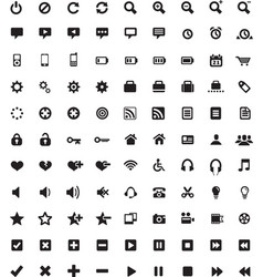 Set of universal icons 4 vector