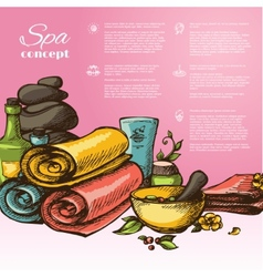 Spa Sketch Background vector image