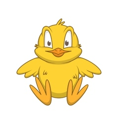 Chicken cheerful cute character vector image