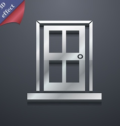 Door icon symbol 3d style trendy modern design vector