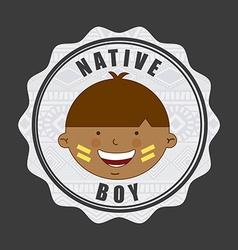 native kid vector image