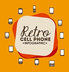 Retro cellphone vector