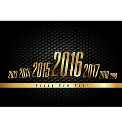 Golden new year 2016 vector