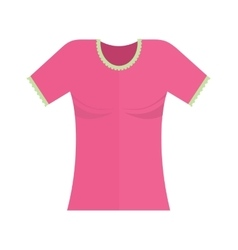 Ladies shirt vector
