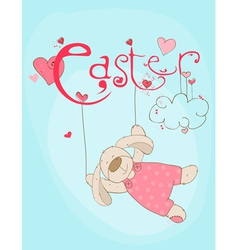 cute easter rabbit vector image