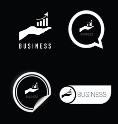 Business icon black and white vector