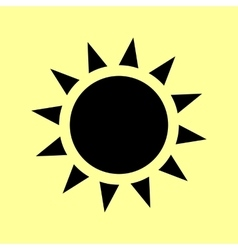 Sun sign flat style icon vector
