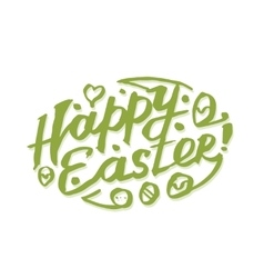 Happy easter calligraphy vector
