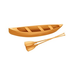 Canoe on white vector
