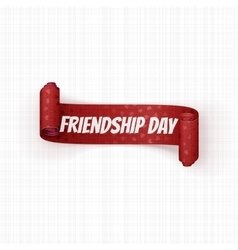Friendship day realistic red festive banner vector