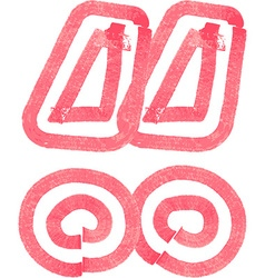 Abstract symbol made with red marker vector