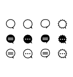 Black and line speech bubble vector