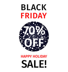 black friday sale coupon with discount percentage vector image