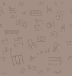 brown seamless pattern furniture vector image