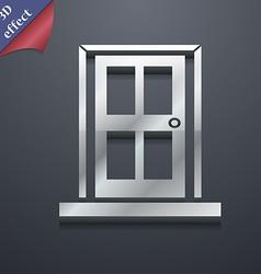 Door icon symbol 3D style Trendy modern design vector image vector image