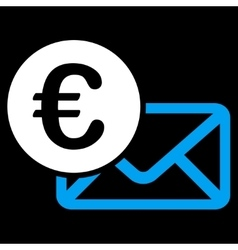 Euro Message Icon vector image