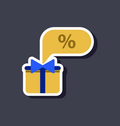 fashion patch sale sticker gift box discount vector image