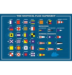 International maritime signal flags - sea alphabet vector image vector image