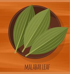 Malabar cassia leaf flat design icon vector