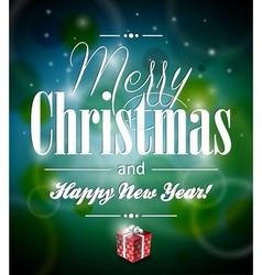 Merry christmas with typographic desi vector