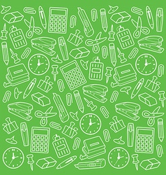 Office supplies seamless pattern vector