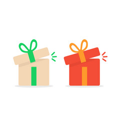 opened color gift boxes vector image
