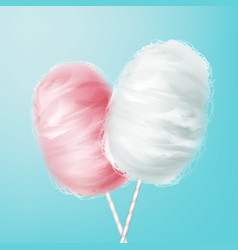 pink white cotton candy vector image