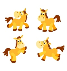 Set of happy horses vector image vector image