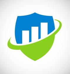 shield business logo vector image vector image