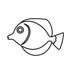 Tang fish zebrasoma flavescens icon vector