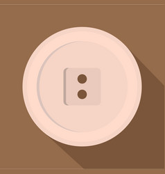 White sewing button icon flat style vector