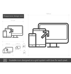 Responsive design line icon vector