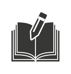 Text book with education icon vector