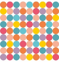 Tile pattern with pastel colorful polka dots vector