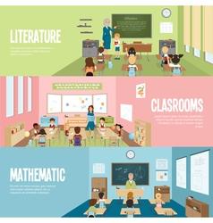 School classroom banners vector